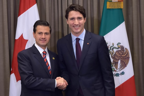 REUNIÓN CON JUSTIN TRUDEAU, PRIMER MINISTRO DE CANADÁ